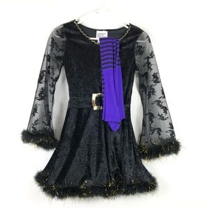 Black Adorable Witch Costume Dress Tights Large